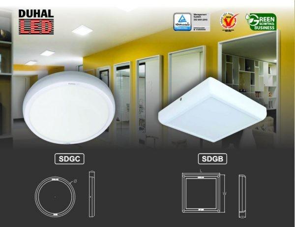 Đèn LED panel tròn gắn nổi Duhal SDGC
