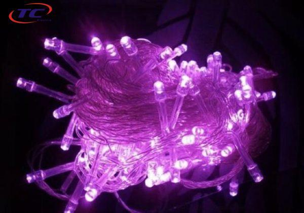 Đèn nháy LED dây 5m - tím