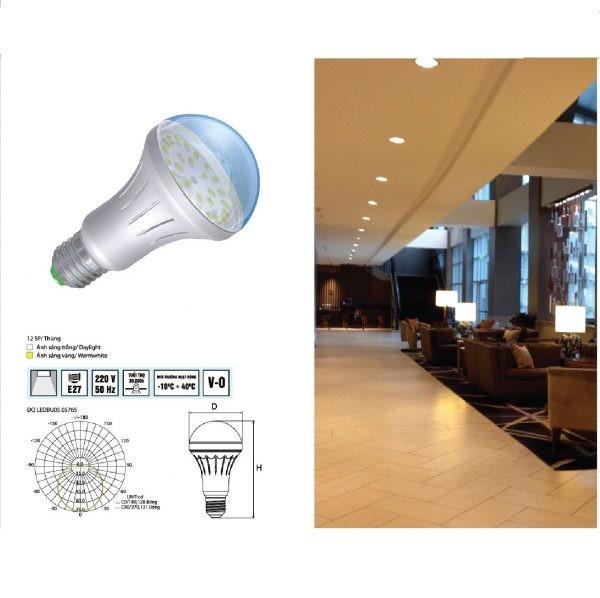 Đèn LED bulb thân nhựa Điện Quang ĐQ LEDBU04 2