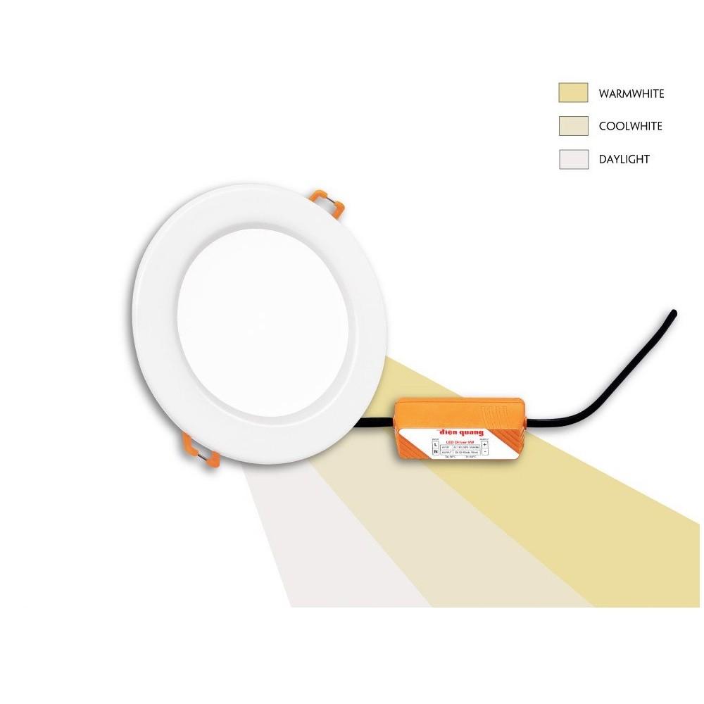 Bộ đèn LED downlight đổi màu Điện Quang ĐQ LRD07 078CS